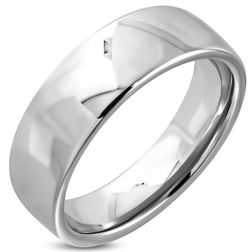 8mm Tungsten Carbide Half-Round Band Ring
