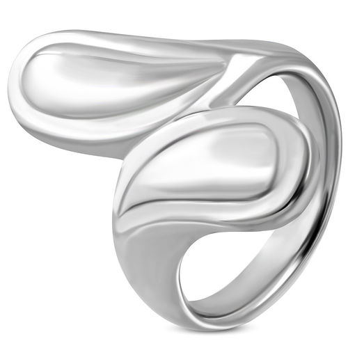 27mm Stainless Steel Teardrop Bypass Fancy Ring