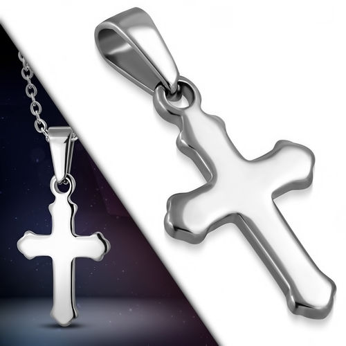 Stainless Steel Engravable Cross Pendant