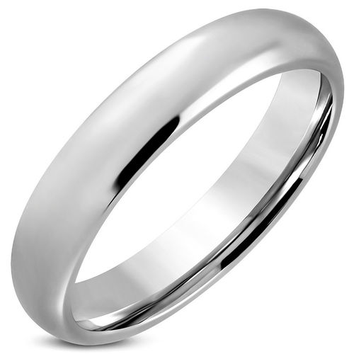 5mm | Stainless Steel Engravable Comfort Fit Half-Round Wedding Band Ring