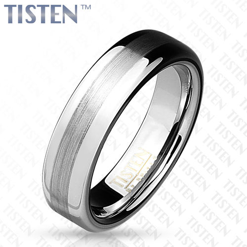 Brushed Metal Center Dome Tisten Ring