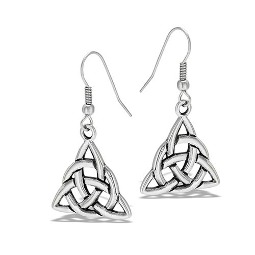 Stainless Steel Triquetra Dangle Earring